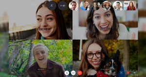 come comunicare skype group video call